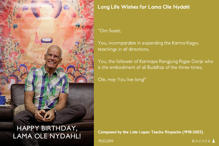 Happy Birthday Lama Ole Nydahl!