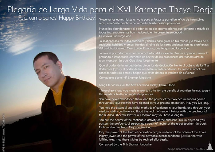 Happy Birthday Karmapa!